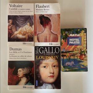 French Books: Dumas/Voltaire/Flaubert/Mayle/Gallo
